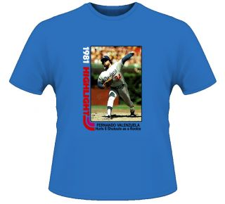 Fernando Valenzuela Baseball Los Angeles Royal T Shirt