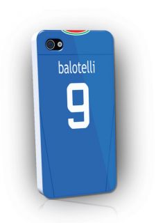 Italy Euro 2012 Football Shirt Style Phone Cover Case for iPhone 4 4S