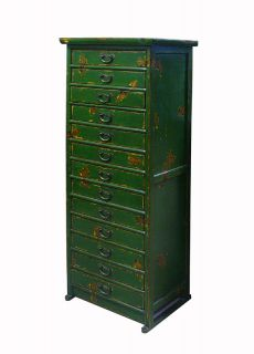 Rustic Green Multi Drawers Storage File Cabinet S2436S