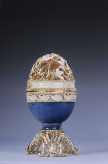 Faberge Easter egg with elephant by Keren Kopal Swarovski Crystal