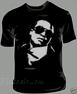 Lupe Fiasco Airbrushed Stencil Shirt Hip Hop Airbrush