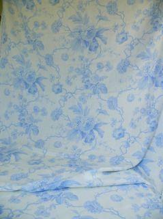 BRUNSCHWIG & FILS BRIAR ROSE LINEN PRINT LIGHT BLUE WHITE 6.25Y