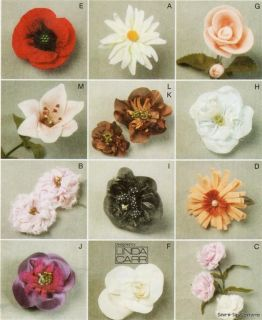 Sewing Pattern Felt Fabric Flowers Brooch Pin Hair Band Clip