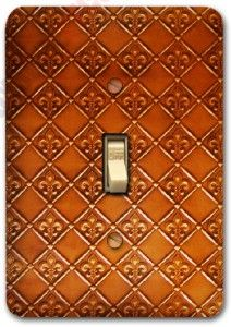 pattern metal single light switch plate cover home decor 294