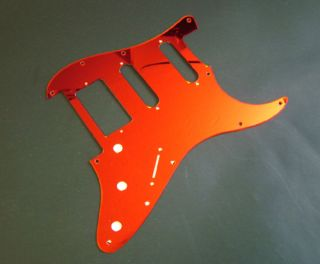FLOYD ROSE Strat Pickguard, HSS,Red Mirror, Fits Fender/Charvel