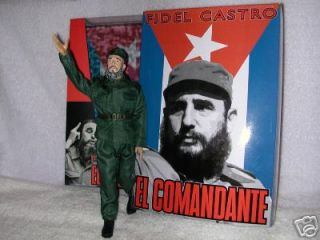 Fidel Castro 12 Action Figure Doll Cuban Leader in Hat