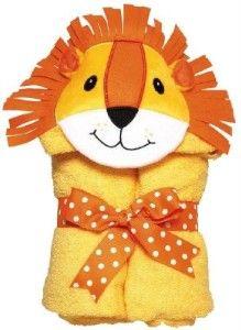 new am pm kids tubbie lion hooded bath towel