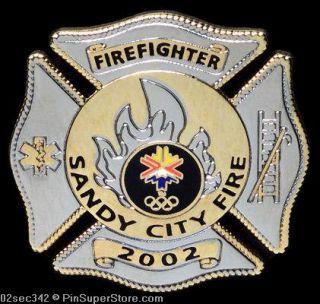 Olympic Pins 2002 Salt Lake City Sandy City Fire Dept