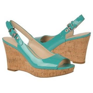 Franco Sarto Womens Colley Turquoise Patent