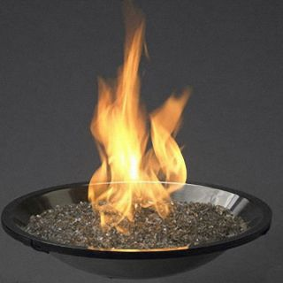Stainless Steel Crystal Fire Pit Propane