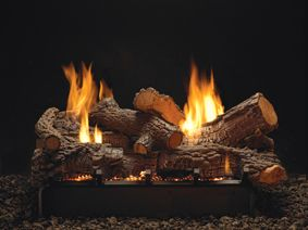 Fireplaces Logs Seethrough Empire Propane Natural Gas Ventless