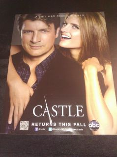 Poster SDCC 2012 Comic Con Nathan Fillion Stana Katic Two Sided ABC