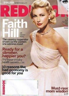 2009 May Redbook Magazine Faith Hill as Grace Kelly