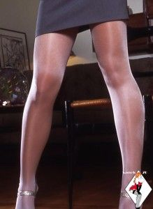 RARE* FOGAL SHIMMERY SILVER SHINY STW Sheer to Waist SEXY Pantyhose