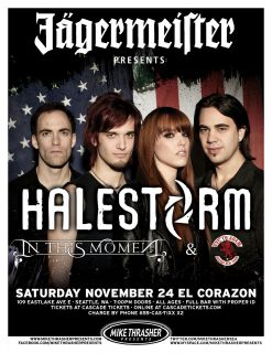 in This Moment 2012 Seattle Concert Tour Poster Hard Rock Music