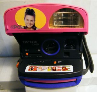 Polaroid 600 Instant Film Camera  Spice Girls Spice Cam with Stickers