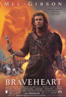 Braveheart Movie Poster Mel Gibson Original 1SHT Bonus