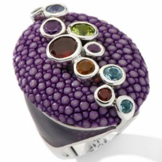 SOLD OUT Chi By Falchi Sterling Silver Multigemstone Purple