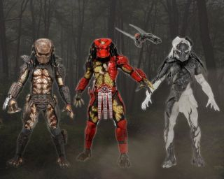 SERIES 7 FIGURES SET NECA (BIG RED CAMO FALCONER CITY) Aliens AVPR