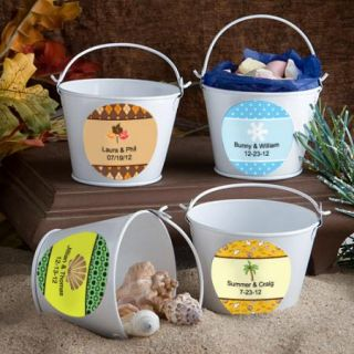 100 Personalized Fall Autumn Wedding Pail Favors