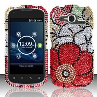 Burst P9070 Crystal Diamond Bling Case Phone Cover Fall Flowers