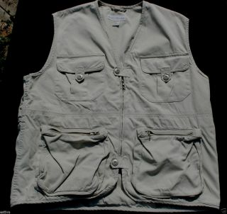 EPC Banana Republic Safari Camp Fish Hunt Sleeveless Jacket Vest M