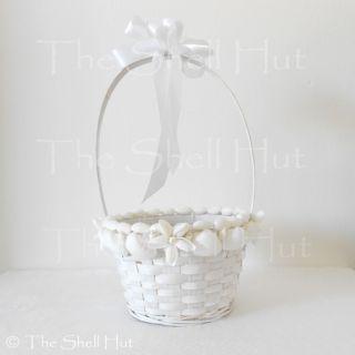 Seashell Basket Wedding Flower Girl Shower Seaside Party Christmas