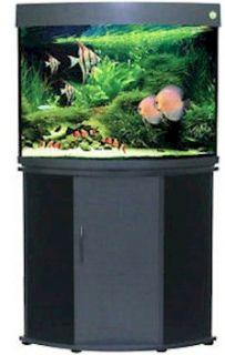 Compass Rose 36 Gallon Corner Fish Tank   Beech w/ Aquarium Kit