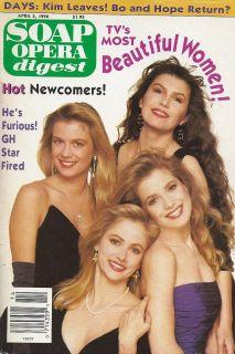 Cathy Podewell Finola Hughes Melissa Reeves April 3 1990 Soap Opera