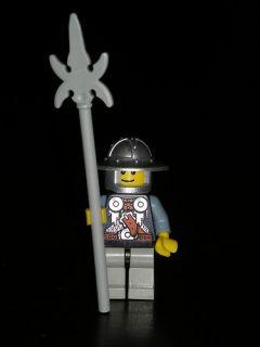 Lego Minifigures Castle Fante Con Alabarda Knight M5