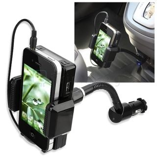 Car Kit FM Radio Transmitter Mount Cable for iPhone 5 iPod Nano Touch