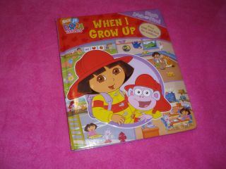 WHEN I GROW UP My First Look and Find Dora (2007, Hardcover)