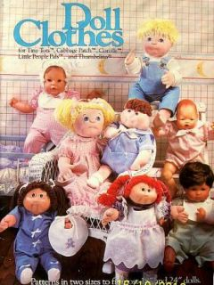 Sewing Patterns For Soft Sculpture Doll Clothes 18 & 24 Dolls