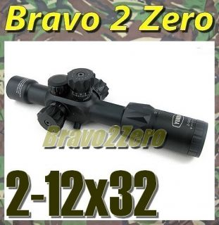 12x32 First Focal Plane Dual Illuminated 30mm Professional Rifle Scope