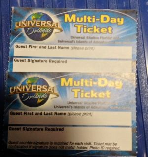 Universal Studios Orlando 3 Day Park Tickets FLORIDA RESIDENT ONLY