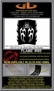 Flame B5 Airbrush Stencil Template Motorcycle Chopper Paint New Design