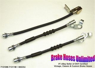 Brake Hose Set Ford Galaxie 1966 Disc
