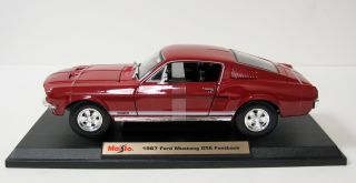 1967 Ford Mustang GTA Fastback Diecast Model Red 1 18 Scale Maisto