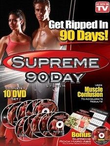 90 Day Workout Program Fitness System 10 DVD Set Get Insane ABS