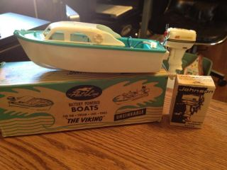 Vintage Fleet Line The Viking Battery Operated Toy Boat w/No. 43