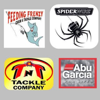 Fishing Decals Stickers Feeding Frenzy TNT Spiderwire Abu for Life