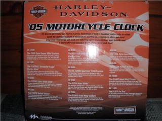 BNIB Mark Feldstein Harley Davidson 05 Motorcycle Wall Clock w