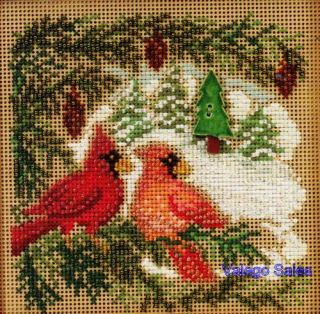 Mill Hill Button Beads Cross Stitch Kit Cardinal Forest