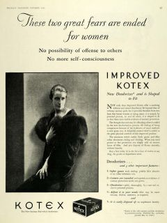 Kotex Co. Sanitary Pads Feminine Care Products   ORIGINAL ADVERTISING