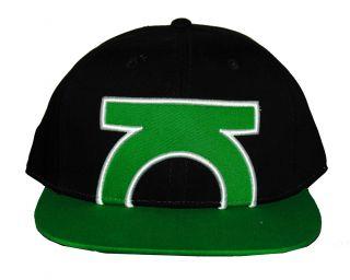 Green Lantern DC Comics Super Hero Big Logo Flat Bill Cap Hat