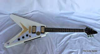 Epiphone Limited Edition 1958 Korina Flying V Electric Guitar White