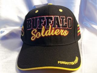 Buffalo Soldiers Ball Cap Hat in Black Forgotten Heroes