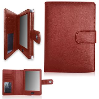 Regal Flip Book Cover Case for Kobo eReader Touch Red