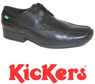Kickers Wan Lace Black Leather Formal Shoes Size 7 11