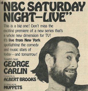 Night Live Debut George Carlin Flip Wilson Muhammad Ali